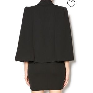 Xtaren Dresses - XTaren Cape Top V-neck Peplum Dress